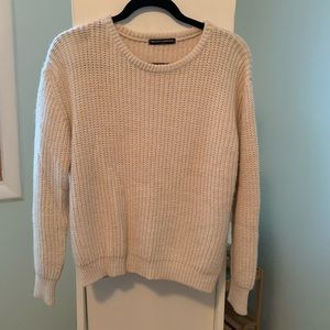 brandy Melville beige cable knit sweater